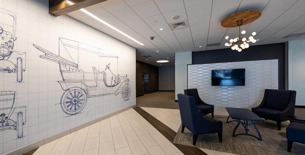 900 S Broadway Building Lobby, an Elsy Studios Commercial Interior Design Portfolio Project