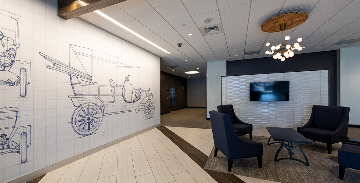 900 S Broadway Building Lobby, an Elsy Studios Commercial Interior Design Portfolio Project