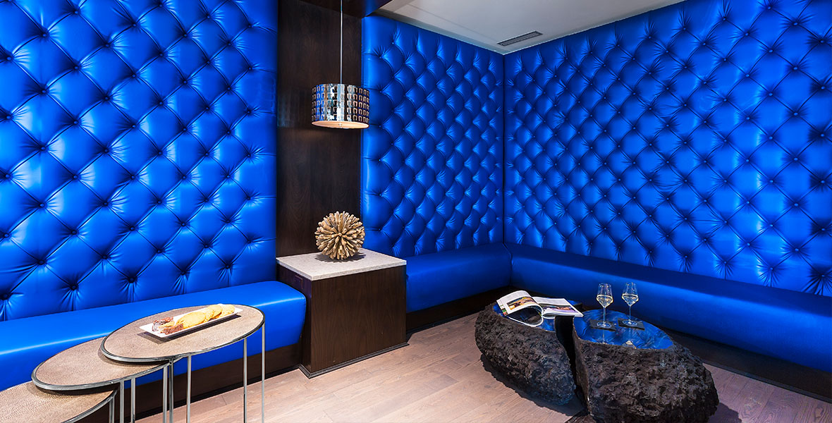 Inspirato lounge, a commercial interior design portfolio project from Elsy